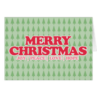 "Red Retro ""Merry Christmas"" Good Tidings Greeting Cards"