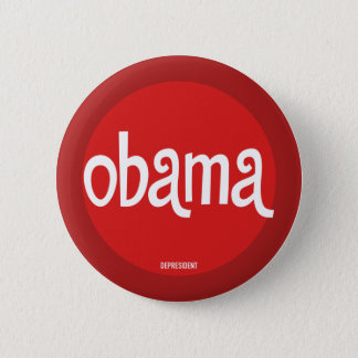 Red Retro Obama Button