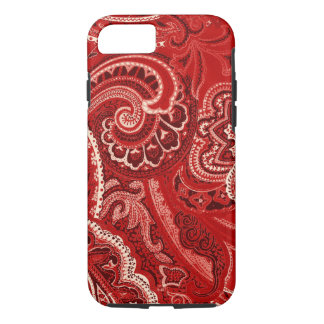 Red Retro Paisley Bandanna/Bandana iPhone 8/7 Case