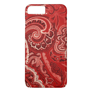 Red Retro Paisley Bandanna/Bandana iPhone 8 Plus/7 Plus Case