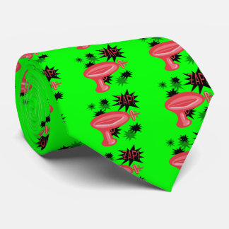 Red Retro Raygun Tie