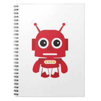 Red Retro Robot Notebook