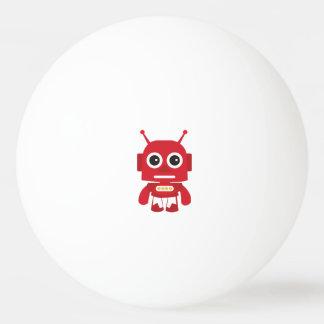 Red Retro Robot Ping Pong Ball