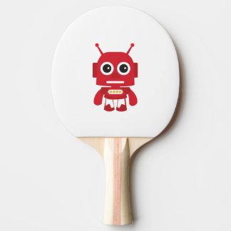 Red Retro Robot Ping-Pong Paddle