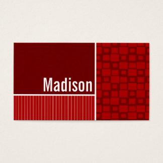 Red Retro Squares Business Card