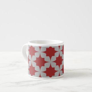Red Retro Star Espresso Mug