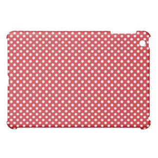 Red Retro Tiny Dot  Cover For The iPad Mini