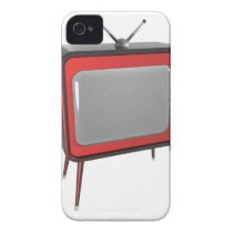 Red retro TV Case-Mate iPhone 4 Case