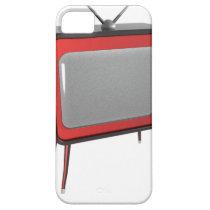 Red retro TV iPhone SE/5/5s Case