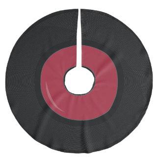 red Retro Vinyl Record Disk Tree skirt