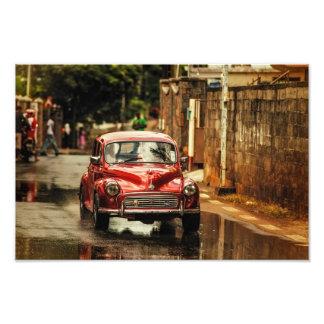 Red RetroMobile. Morris Minor Photo
