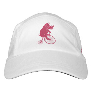 Red Rhino Riding a Vintage Penny Farthing Bike Headsweats Hat