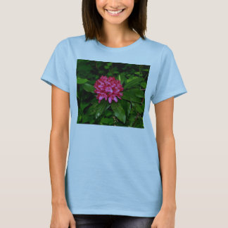 red Rhododendron bloom shirt