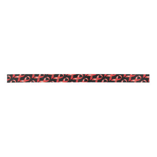 Red Ribbon AIDS Awareness Satin Ribbon