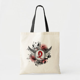 Red Ribbon And Wings Blood Cancer Tote Bag
