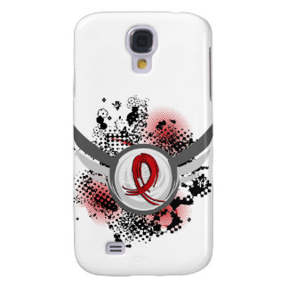 Red Ribbon And Wings Heart Disease Samsung Galaxy S4 Cover