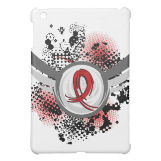 Red Ribbon And Wings Heart Disease iPad Mini Cover