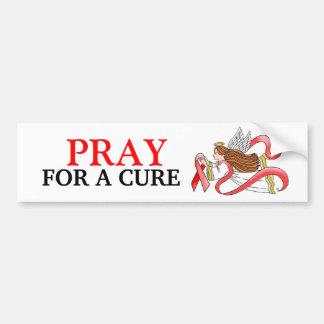 """Red Ribbon"" Awareness Angel Bumper Sticker"