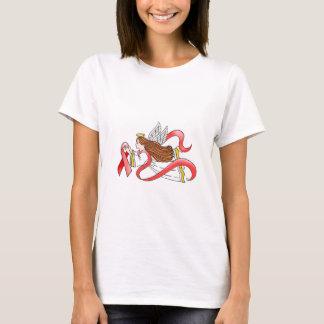 """Red Ribbon"" Awareness Angel T-Shirt"
