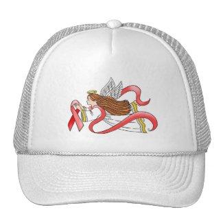 """Red Ribbon"" Awareness Angel Trucker Hat"
