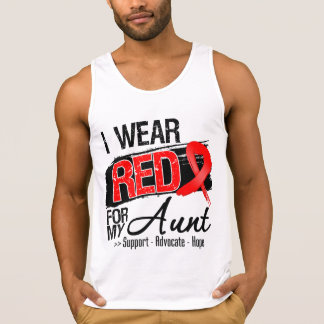 Red Ribbon Awareness - Aunt. Tanktop