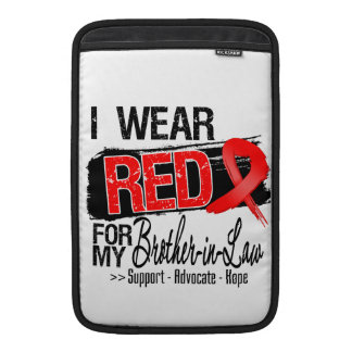 Red Ribbon Awareness - Brother-in-Law Sleeves For MacBook Air