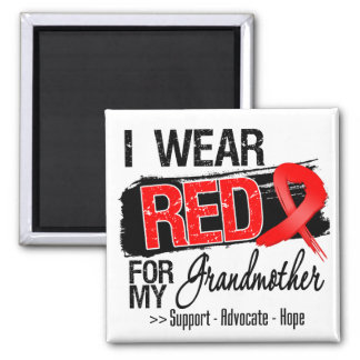 Red Ribbon Awareness - Grandmother Fridge Magnets
