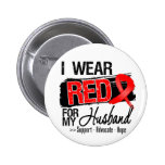Red Ribbon Awareness - Husband 2 Inch Round Button