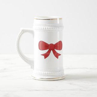 Red Ribbon Bow. On White. Mug