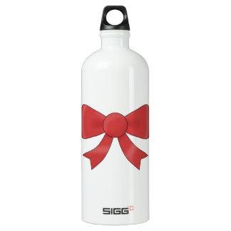 Red Ribbon Bow. On White. SIGG Traveler 1.0L Water Bottle