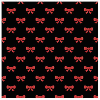 Red Ribbon Bow Pattern on Black. Statuette