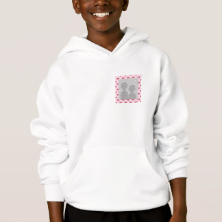 Red Ribbon Bow Pattern on Pink. Add Photo. Custom Hoodie
