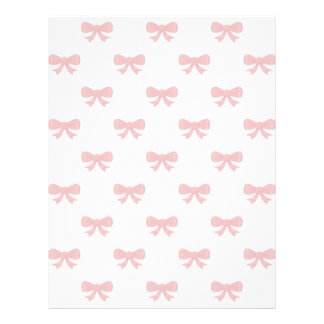 Red Ribbon Bow Pattern on Pink. Letterhead