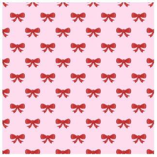 Red Ribbon Bow Pattern on Pink. Cut Outs