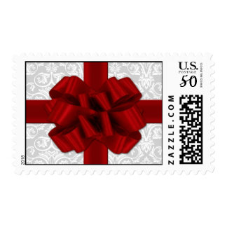 Red Ribbon Bow Postage