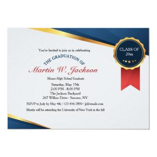 Red Ribbon Certificate Graduation Invitation