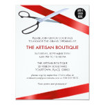 """Red Ribbon Cutting Grand Opening 4.25"""" X 5.5"""" Invitation Card"""
