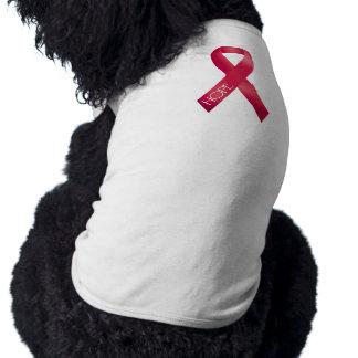 Red Ribbon Dog T Shirt