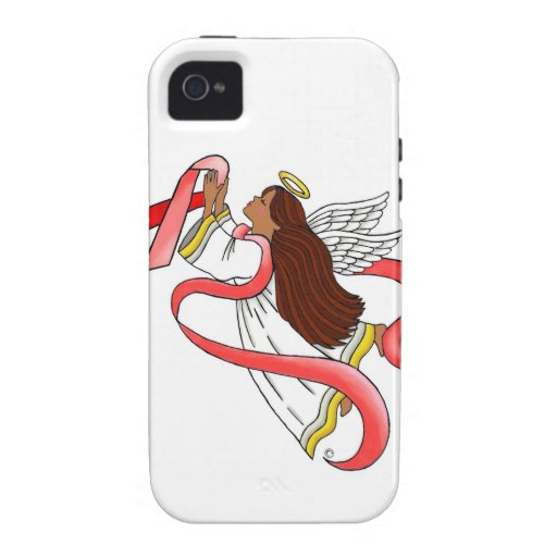 """""""Red Ribbon"""" Ethnic Awareness Angel iPhone 4 Cases"""