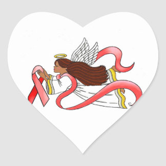 """Red Ribbon""  Ethnic Awareness Angel Stickers"