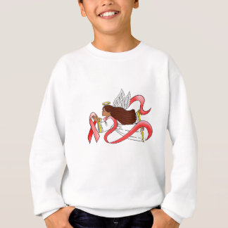 """Red Ribbon"" Ethnic Awareness Angel Sweatshirt"