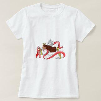 """Red Ribbon""  Ethnic Awareness Angel T-Shirt"