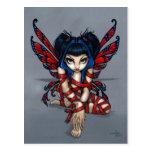 """Red Ribbon Fairy"" Postcard"