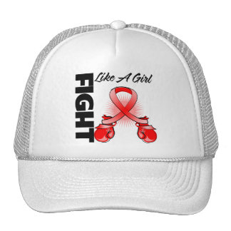 Red Ribbon Fight Like A Girl Hats