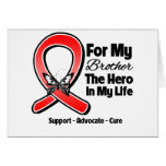 Red Ribbon For My Hero My Brother Greeting Cards