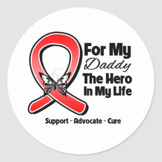 Red Ribbon For My Hero My Daddy Sticker