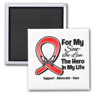 Red Ribbon For My Hero My Son-in-Law Refrigerator Magnet