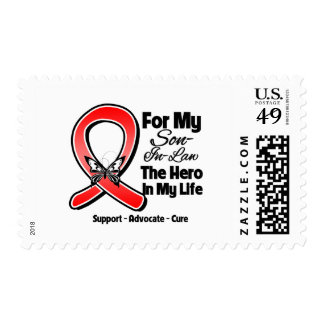 Red Ribbon For My Hero My Son-in-Law Postage
