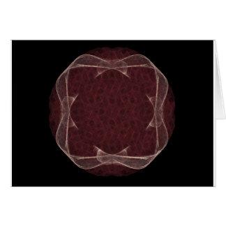 Red Ribbon Fractal Art Design Card