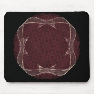 Red Ribbon Fractal Art Design Mouse Pad